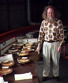 "Larry Shaw, ""King of Pi"" and originator of Pi(e) day."