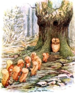 beatrix-potter-the-tale-of-squirrel-nutkin-1903-squirrels-approach-mr-owl-next-morning-for-more-nuts